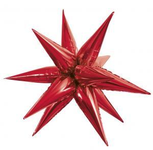 Folieballong mega Stjärna Röd