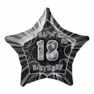 Folieballong Födelsedag Stjärna svart18