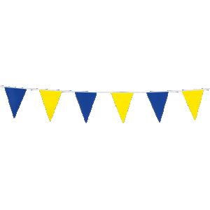 Mini Vimpelgirlang gul & blå