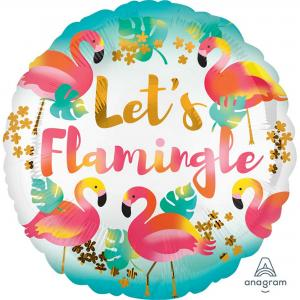 Flamingo let's flamingle heliumballong