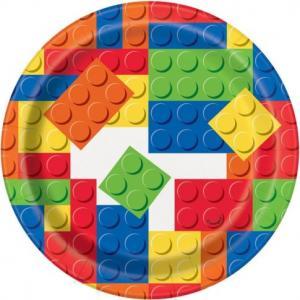 Lego bygg  tårttallrik