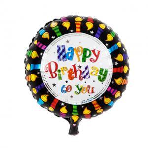ballong födelsedag svart med ljus