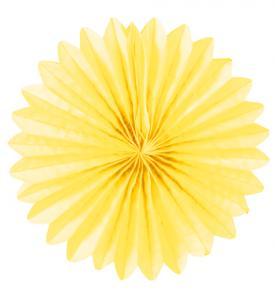 Solfjädrar dekoration 25cm gul