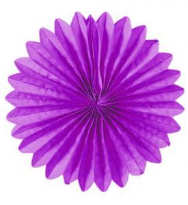 Solfjädrar dekoration 25cm lila