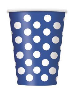 Blå polka muggar