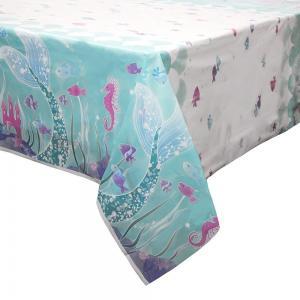 Sjöjungfru bordsduk i plast