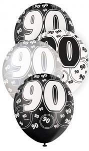"90 svart glitter Latexballonger 12"" (kopia)"