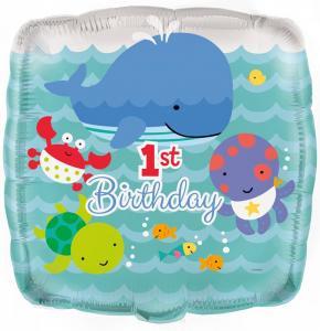 folieballong födelsedag havet 1år