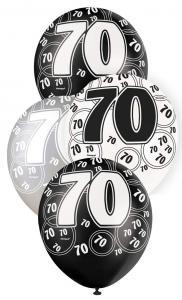 """70 svart glitter Latexballonger 12"""""""