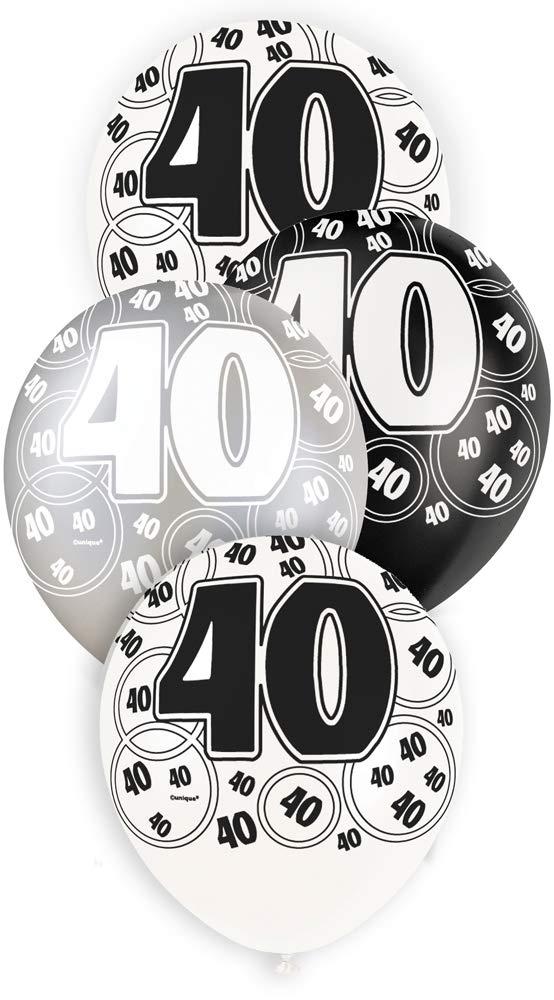 """40 svart glitter Latexballonger 12"""""""