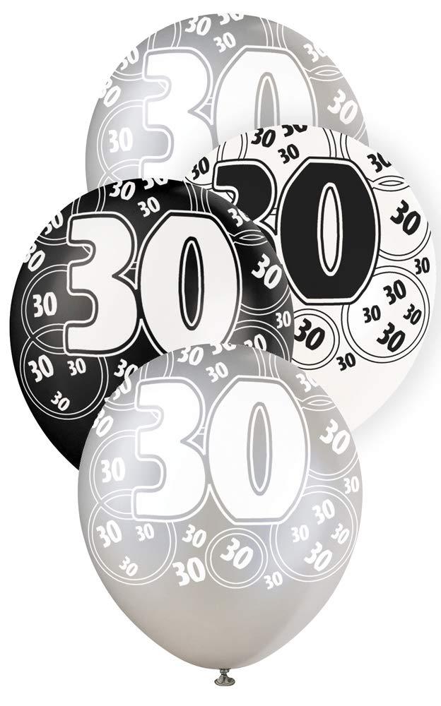 """30 svart glitter Latexballonger 12"""""""