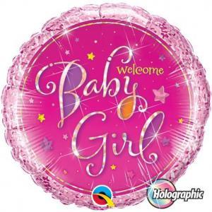 welcome baby girl folieballong