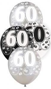 """60 svart glitter Latexballonger 12"""""""