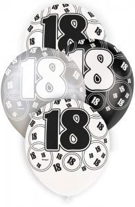 """18 svart glitter Latexballonger 12"""""""