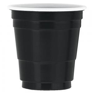 Svart plast Shotglas 20st