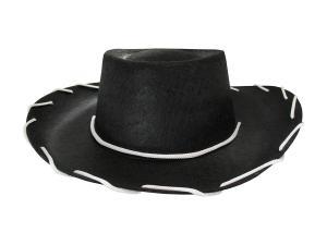 Cowboyhatt Svart med snöre