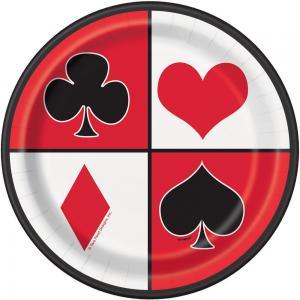 Casino papperstallrikar 8-pack 18cm