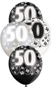 """50 svart glitter Latexballonger 12"""""""