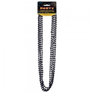 Svart pärlhalsband  80cm 4-pack