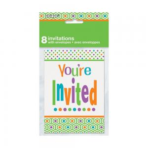 Invitations kort polka