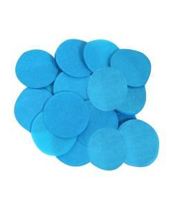 Blå papper konfetti stora runda flingor