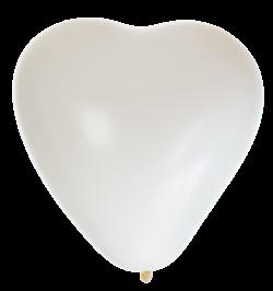 15'' tum Vita Hjärtformade ballonger