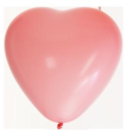 15'' tum Rosa Hjärtformade ballonger