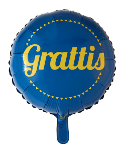 Folieballong Grattis inkl Helium
