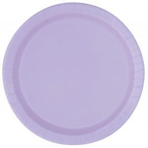 Engångstallrikar Lavender 16st 22,8 cm