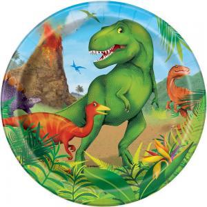 Dinosaurie papperstallrikar 8-pack 18cm