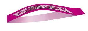 Cerise rosa bride to be sash