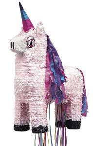 Pinata enhörning rosa med tråd
