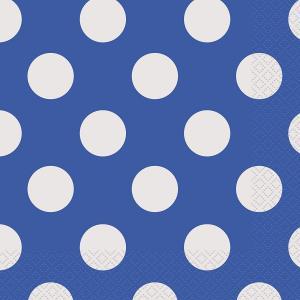 Servetter Blå polka