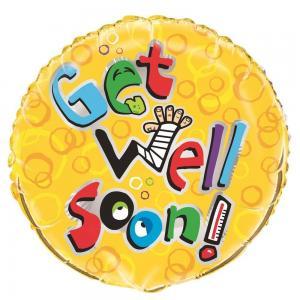 Get well soon folieballong krya på dig