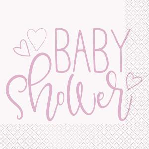Servetter hjärta babyshower