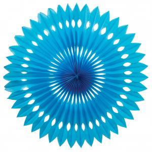 Papper solfjäder Turkosblå
