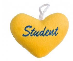 Student Hjärta Gul