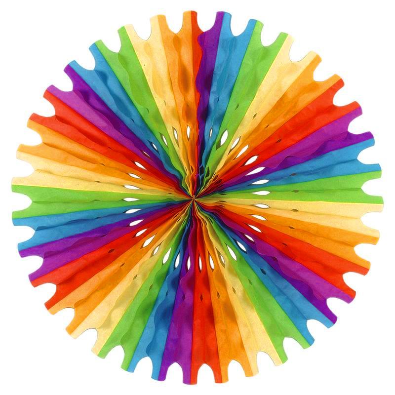 regnbåge papperssolfjäder 2