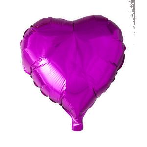 Hjärta folieballong Cerise rosa
