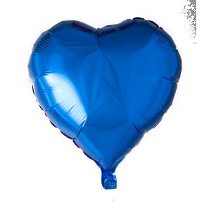 Hjärta folie ballong Marin blå
