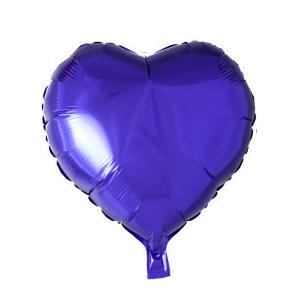 Hjärta folie ballong Lila