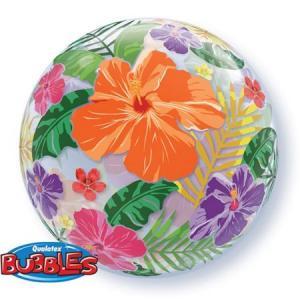 Bubbles tropisk blomtema ballong