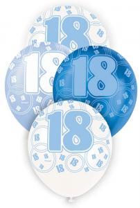 """18 blå glitter Latexballonger 12"""""""