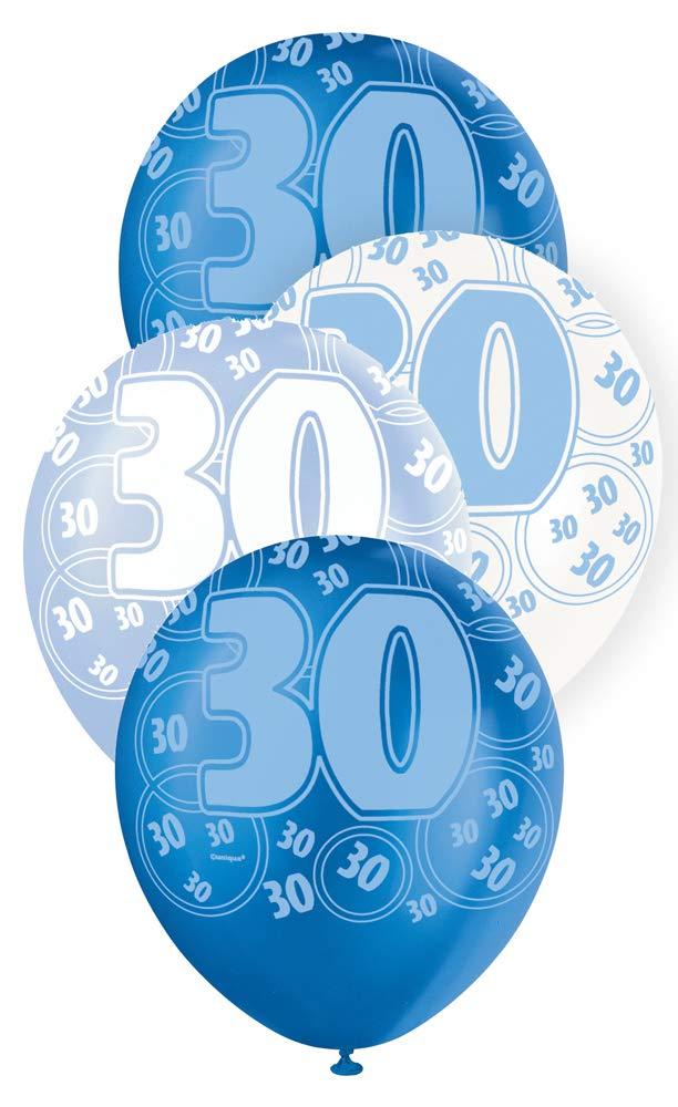 """30 blå glitter Latexballonger 12"""""""