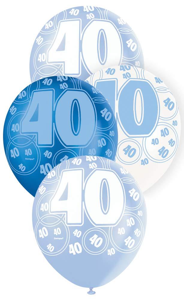 """40 blå glitter Latexballonger 12"""""""