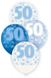 """50 blå glitter Latexballonger 12"""""""