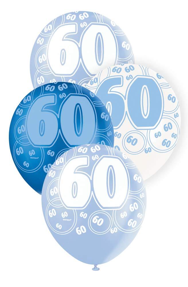"""60 blå glitter Latexballonger 12"""""""