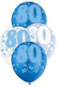 """80 blå glitter Latexballonger 12"""""""