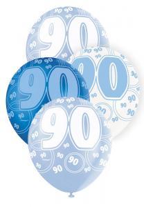 """90 blå glitter Latexballonger 12"""""""