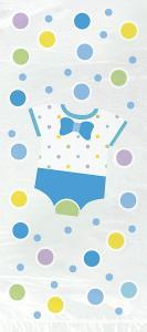 Presentpåsar i babyshower motiv blå
